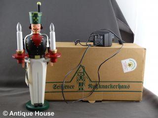 Erzgebirge Volkskunst Dregeno Seiffen Bergmann Mit Elektrischer Beleuchtung 35 C Bild
