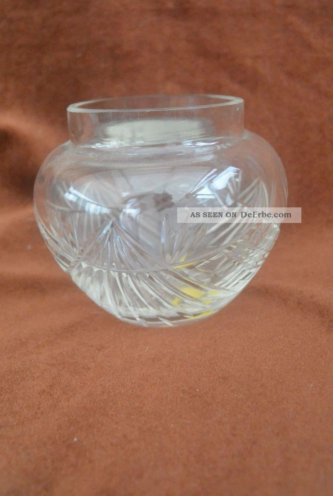 Antik Kleine Kristall Vase Art Déco Komplett Handgeschliffen Gb 1410 Kristall Bild