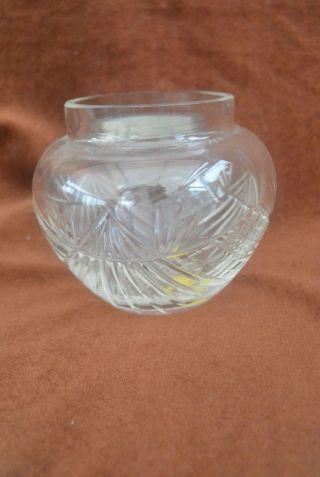 Antik Kleine Kristall Vase Art Déco Komplett Handgeschliffen Gb 1410 Bild