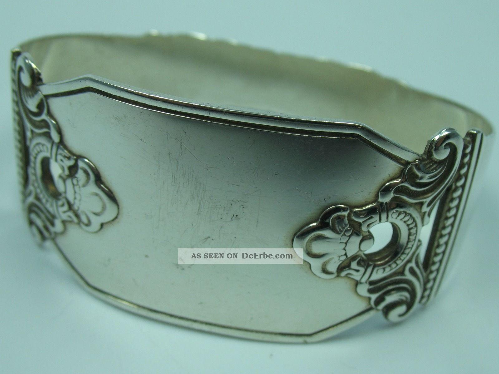 Norwegen Top Großer Serviettenring Für Stoffservietten Aus 830 Silber Objekte vor 1945 Bild