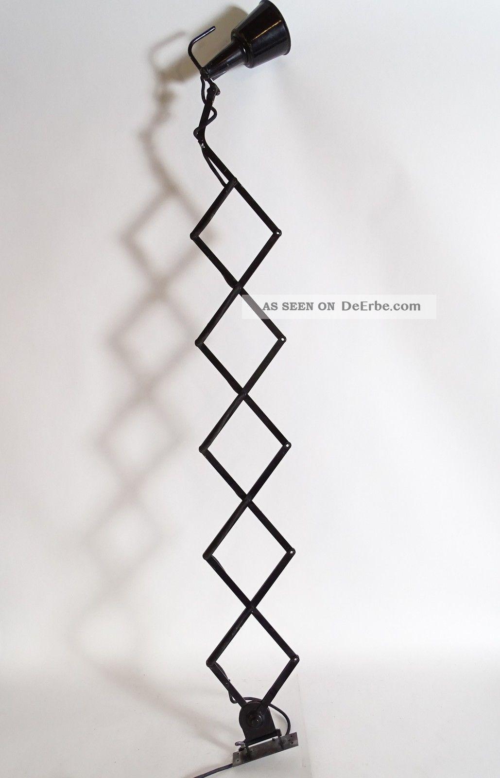 Riesige Art Déco Bauhaus Industrie Design Scherenlampe Wandlampe Top 1920-1949, Art Déco Bild
