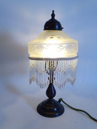 Tolle Stehlampe Wohnzimmerlampe Im Jugendstil Mit Glasschirm Ca.  39 Cm Bild