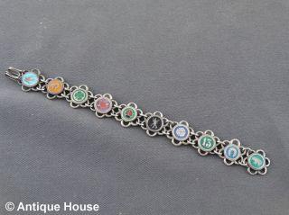 Schmuck Schmuckstück Silber Armband Glücksbringer Emailliert Österreich Bild