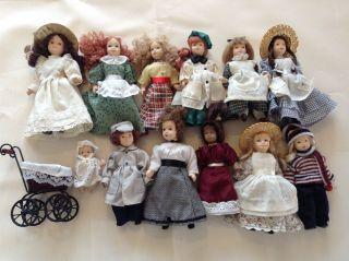 Rar De Agostini Porzellan Puppe Sammlung 11 Puppen 1 Baby Kinderwagen Bild