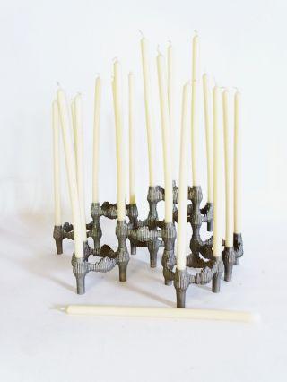 Bmf Nagel Design 9x Kerzenhalter Stecksystem Ausgefallenes Design Inkl.  Kerzen Bild