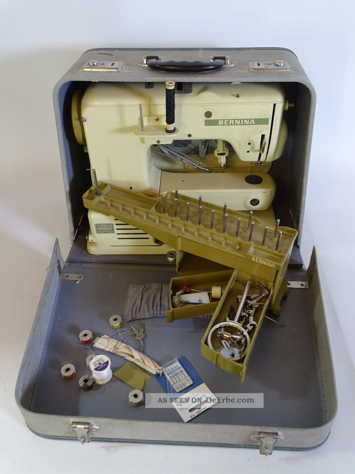 Bernina Record 530 - 2 Nähmaschine Im Koffer Mit Zubehör Haushalt Bild