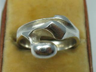 Lapponia Finnland Top Designer Ring Von 1982 Aus 925 Sterling Silber Bild