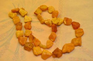 Ausgefallene Bernsteinkette Amber Butterscotch Bild