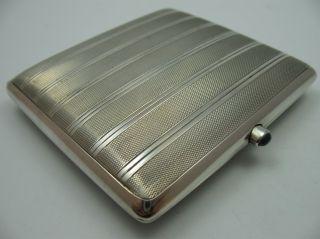 Wunderschönes Altes Zigarettenetui Aus 800 Silber Mit Saphir Cabouchon Bild
