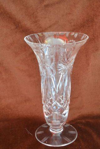 Bleikristall Vase Glatter Rand - Toller Schliff - 20cm - Ca.  530g Bild