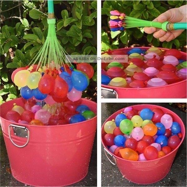 111pcs Zauberei Wasser Luftballons Bomben Spielzeug Kinder Garten Spiel Gefertigt nach 1970 Bild