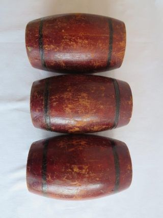 3 Uralte Holz Fässer,  Um 1900,  Erzgebirge Bild