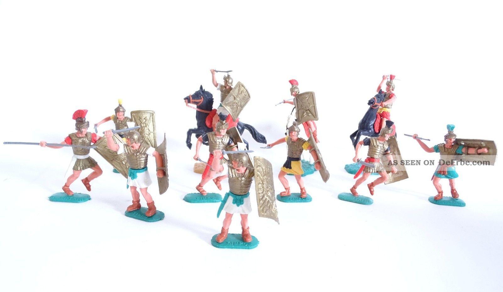 Großes Konvolut Timpo Toys Römer Krieger Raritäten Seltene Varianten Gefertigt nach 1945 Bild