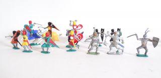 Großes Konvolut Timpo Toys Topfhelm Ritter Seltene Varianten Raritäten Bild