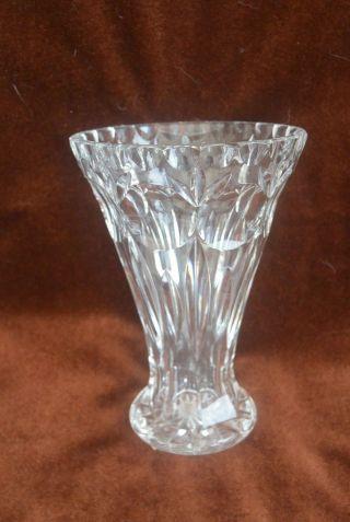 Antik Kristall Vase Schwer Handschliff Olivschliff Bleikristall Bild