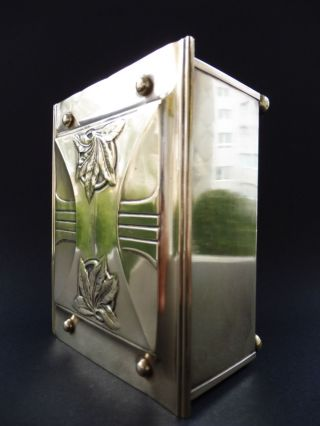 :: Carl Deffner Esslingen Jugendstil Dose Messing Art Nouveau Box Brass Humidor Bild