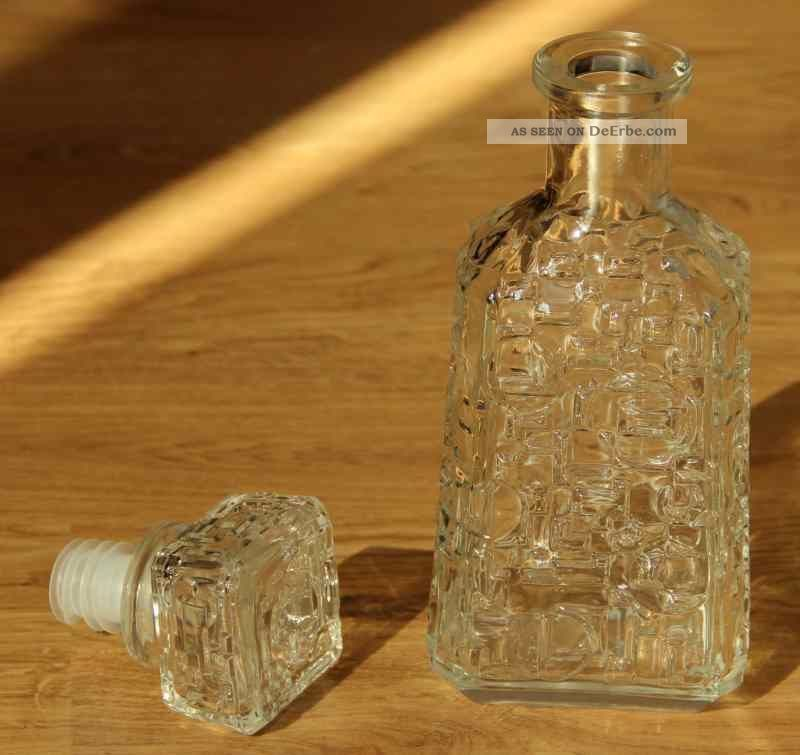 Vintage Glas Orangensaft Flaschen