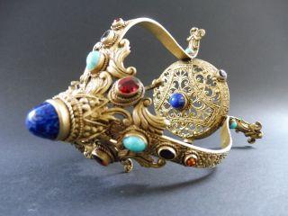 Rar Jugendstil Taschenuhr StÄnder Pocket Watch Stand Cabochon Art Nouveau 1k Wmf Bild