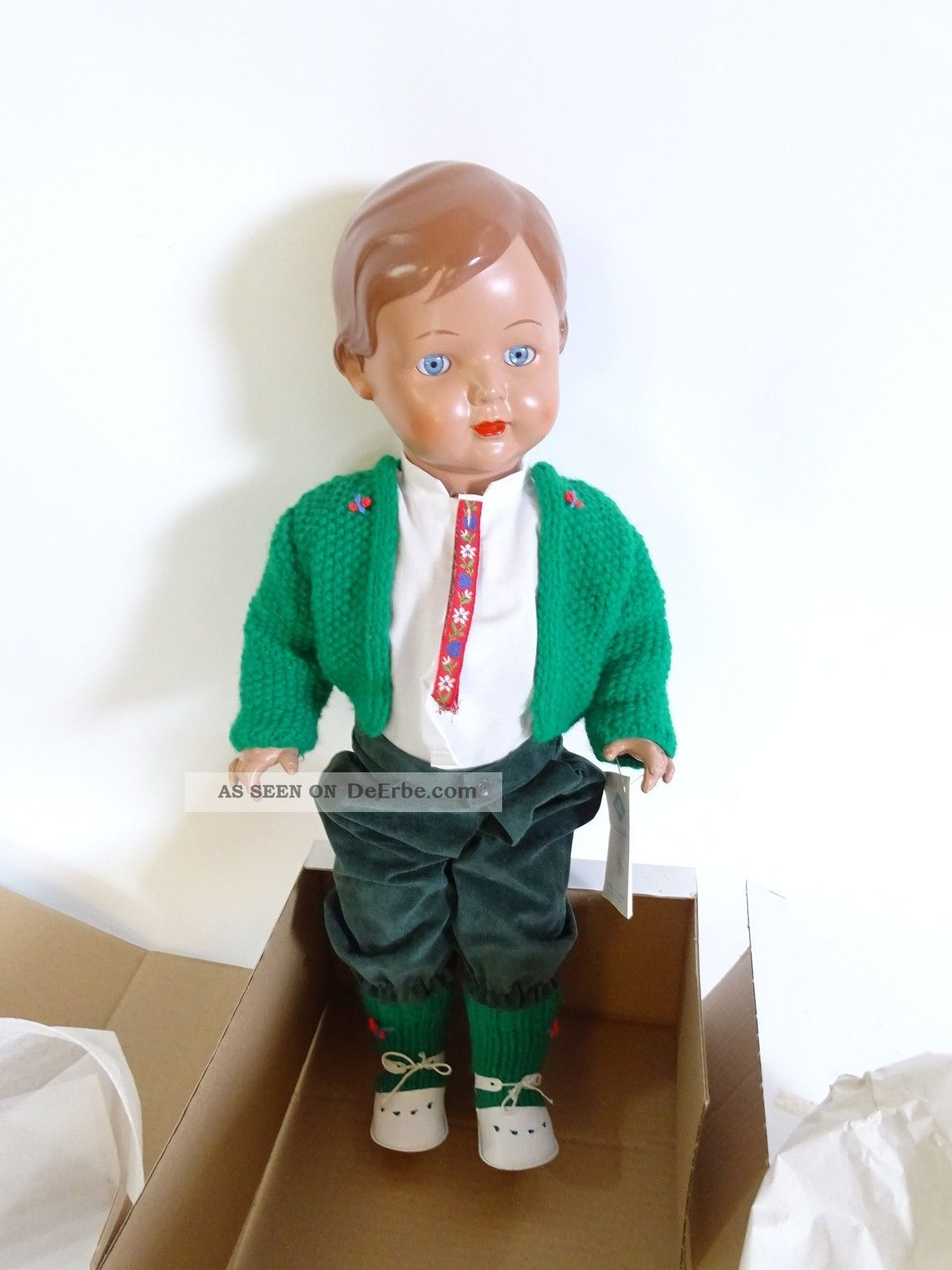 Alte Schildkröt Puppe Rep 56 Inkl.  Grüner Kleidung Und Schildkröt Ovp Schildkröt Bild