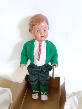 Alte Schildkröt Puppe Rep 56 Inkl.  Grüner Kleidung Und Schildkröt Ovp Bild