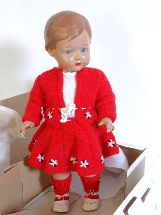 ältere Schildkröt Puppe Rep 56 Inkl.  Roter Kleidung Und Schildkröt Ovp Bild