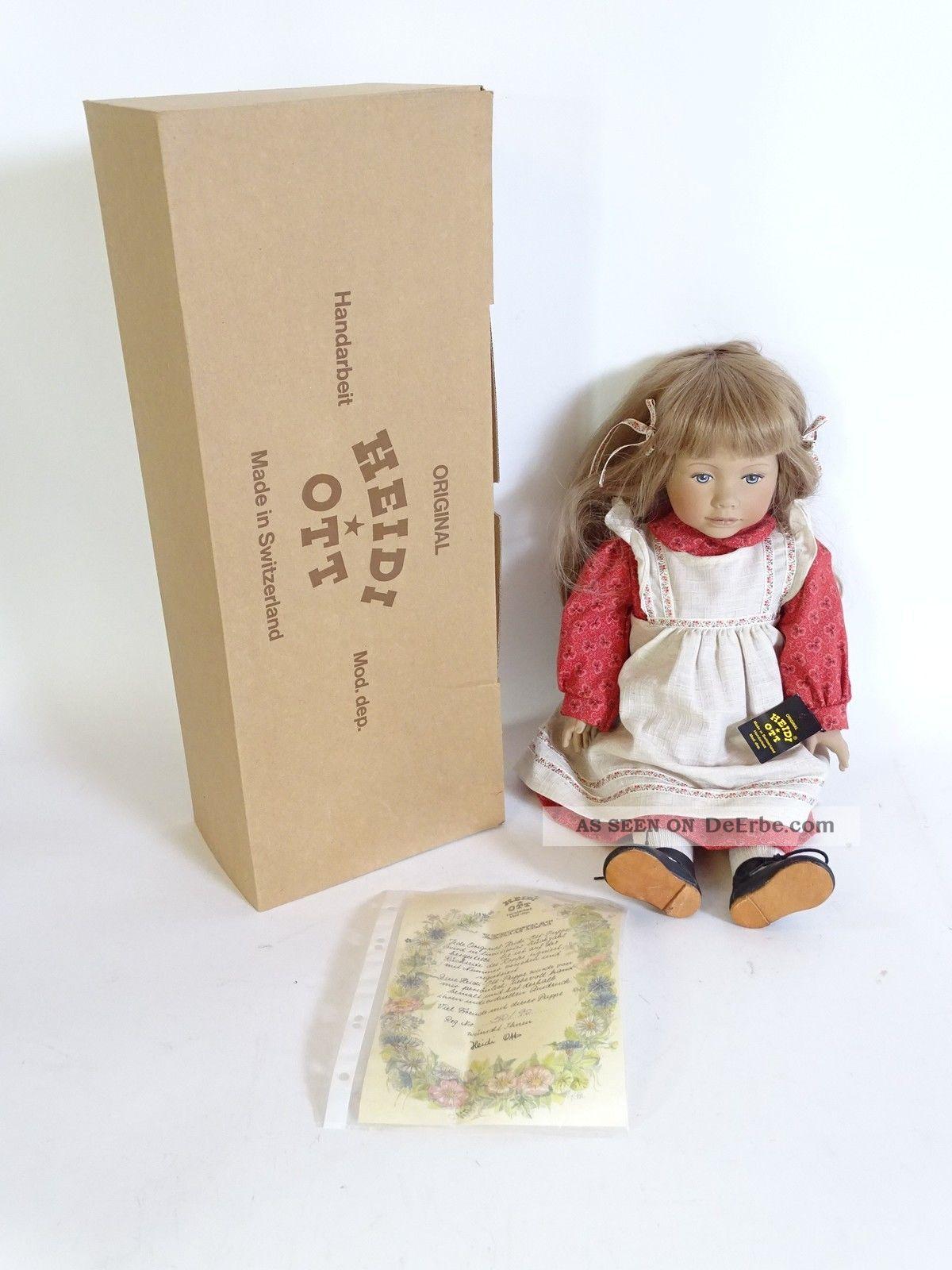 Signierte Heidi Ott Puppe Reg Nr.  50/90 Handbemalt Limitiert Zertifika Porzellankopfpuppen Bild