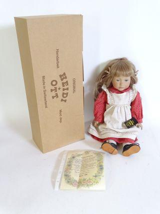 Signierte Heidi Ott Puppe Reg Nr.  50/90 Handbemalt Limitiert Zertifika Bild