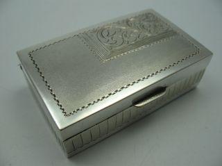 Handarbeit Wunderschöne Massive Pillendose Schnupftabakdose Aus 925 Silber Bild