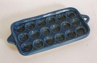 Ältere Tolle Keramik Pfitzauf Form Für 18 Griesklöschen Klöschen Ca.  40 X 20 Cm Bild