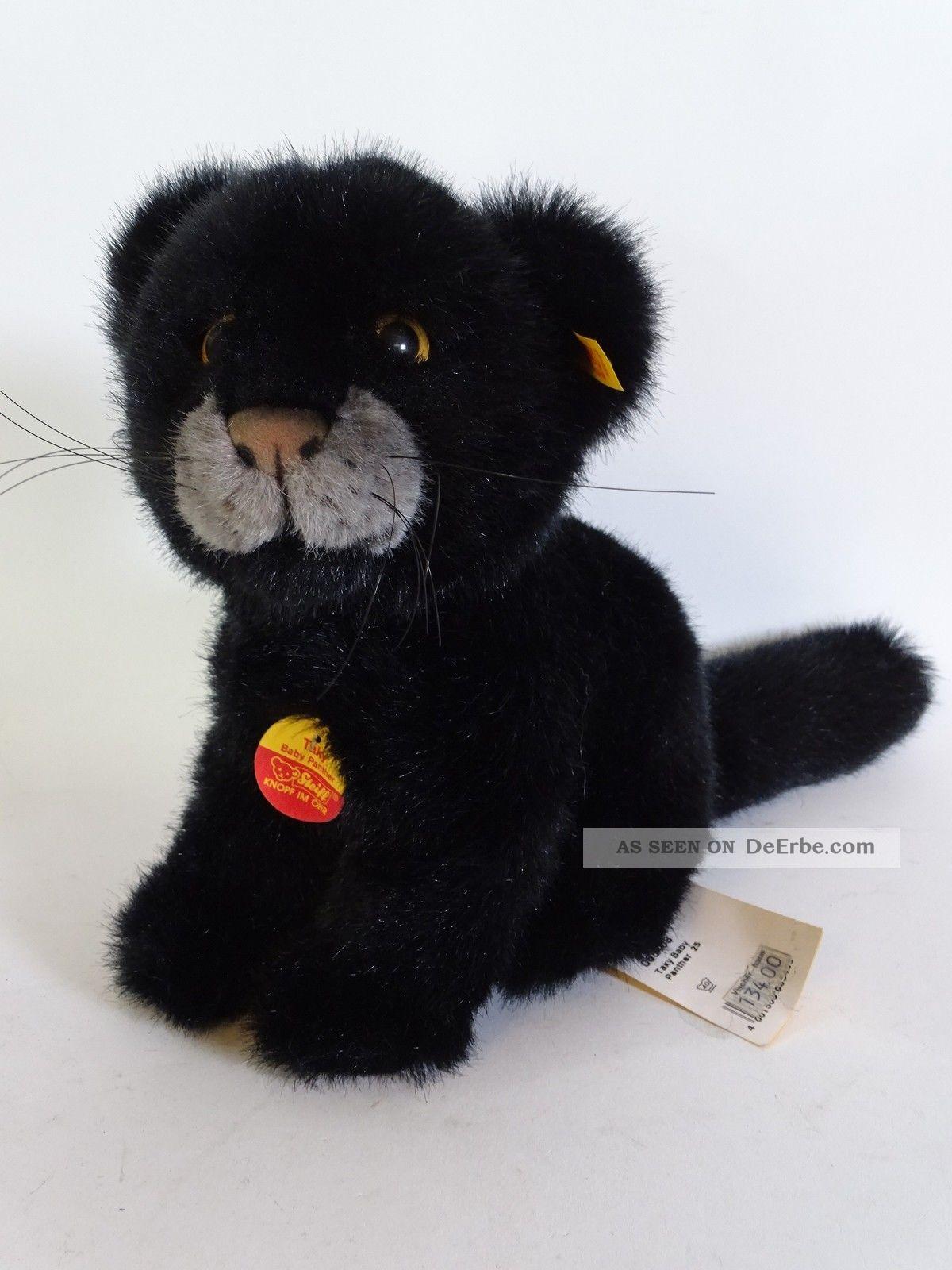 Steiff Taky Baby Panther Knopf Fahne Schild Art.  Nr.  065408 25 Cm Steiff Bild