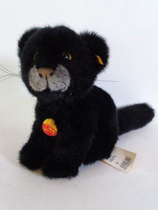 Steiff Taky Baby Panther Knopf Fahne Schild Art.  Nr.  065408 25 Cm Bild