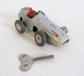 Schuco Micro Racer 1043 Nr.  7 Silber Grau Inkl.  Schlüssel Bild
