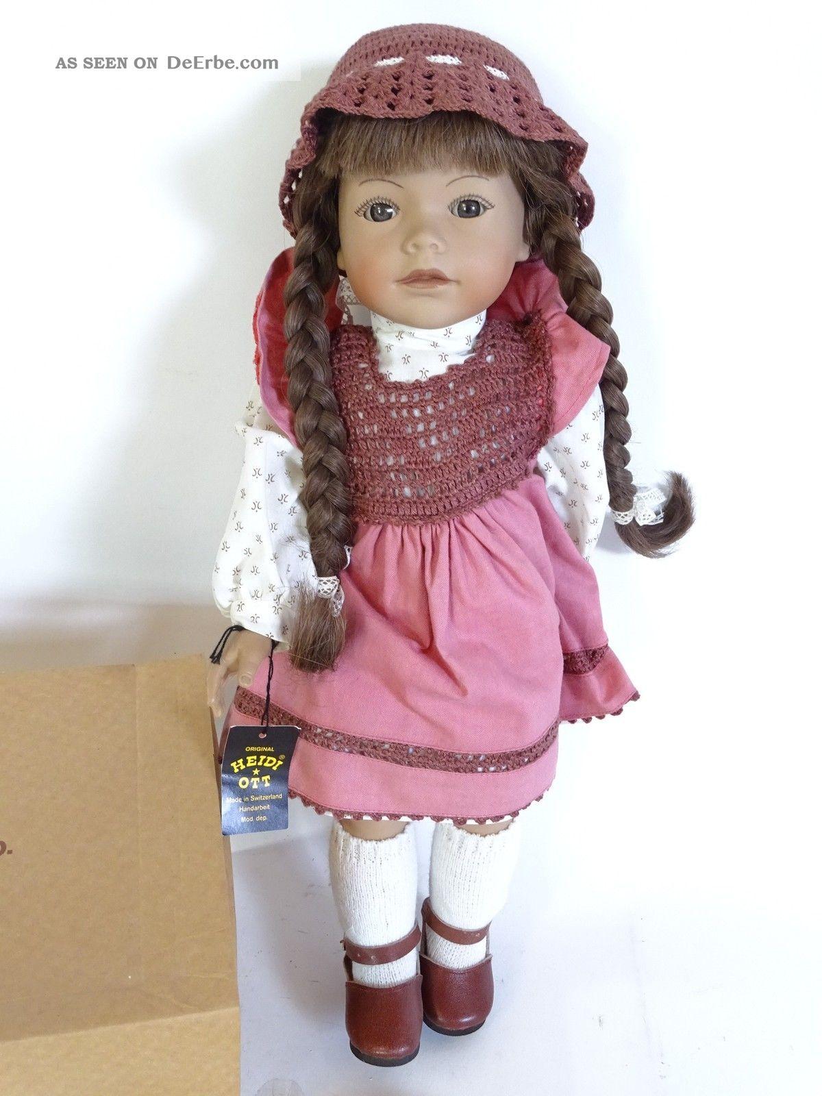 Signierte Heidi Ott Puppe Reg Nr.  72/89 Handbemalt Limitiert Zertifikat Porzellankopfpuppen Bild
