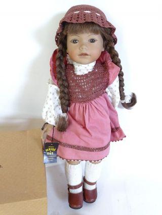 Signierte Heidi Ott Puppe Reg Nr.  72/89 Handbemalt Limitiert Zertifikat Bild