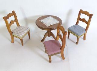 Bodo Hennig Puppenmöbel Wohnzimmertisch 3 Stühle Accessoires Möbel Bild