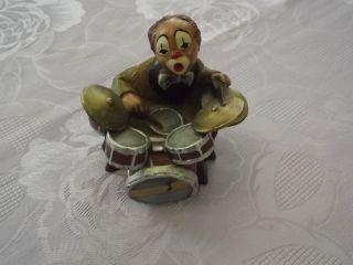 Gilde Clown Schlagzeug Figur Sammlerstück Musiker Deko 17299 Bild