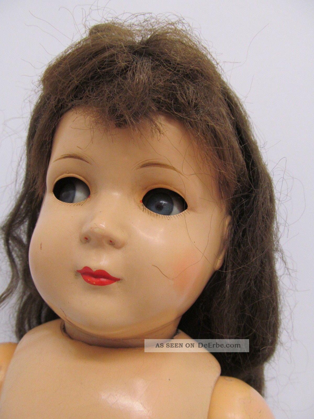 Ens62969 Ältere Kunststoff Kopf Puppe K & W H:ca.  51cm,  Hm:k & W 242/51, Puppen & Zubehör Bild