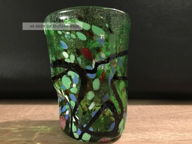 Muranoglas Stil Trinkbecher Zahnputzbecher Trinkglas Larp Vintage Mod.  7 Glas & Kristall Bild