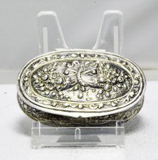 Antike Pillendose 800er Silber Bild
