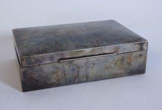 Antike Alpacca Versilberte Box Schachtel Etui Schatulle Deckeldose Bild