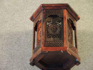 China: Teelicht - / Kerzenständer 6 - Eckig Holz Sehr Schön Im Pagodenstil Bild