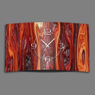 Geschmolzenes Glas Rot Designer Wanduhr Modernes Wanduhren Design Leise Kein Tic Bild