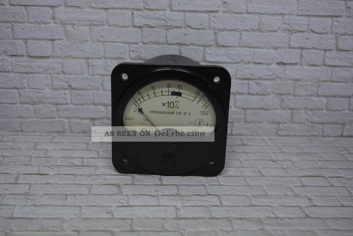 Antikes Amperemeter,  Hersteller Unbekannt (russisch),  0 - 15a/100a; K23 51 Wissenschaftliche Instrumente Bild
