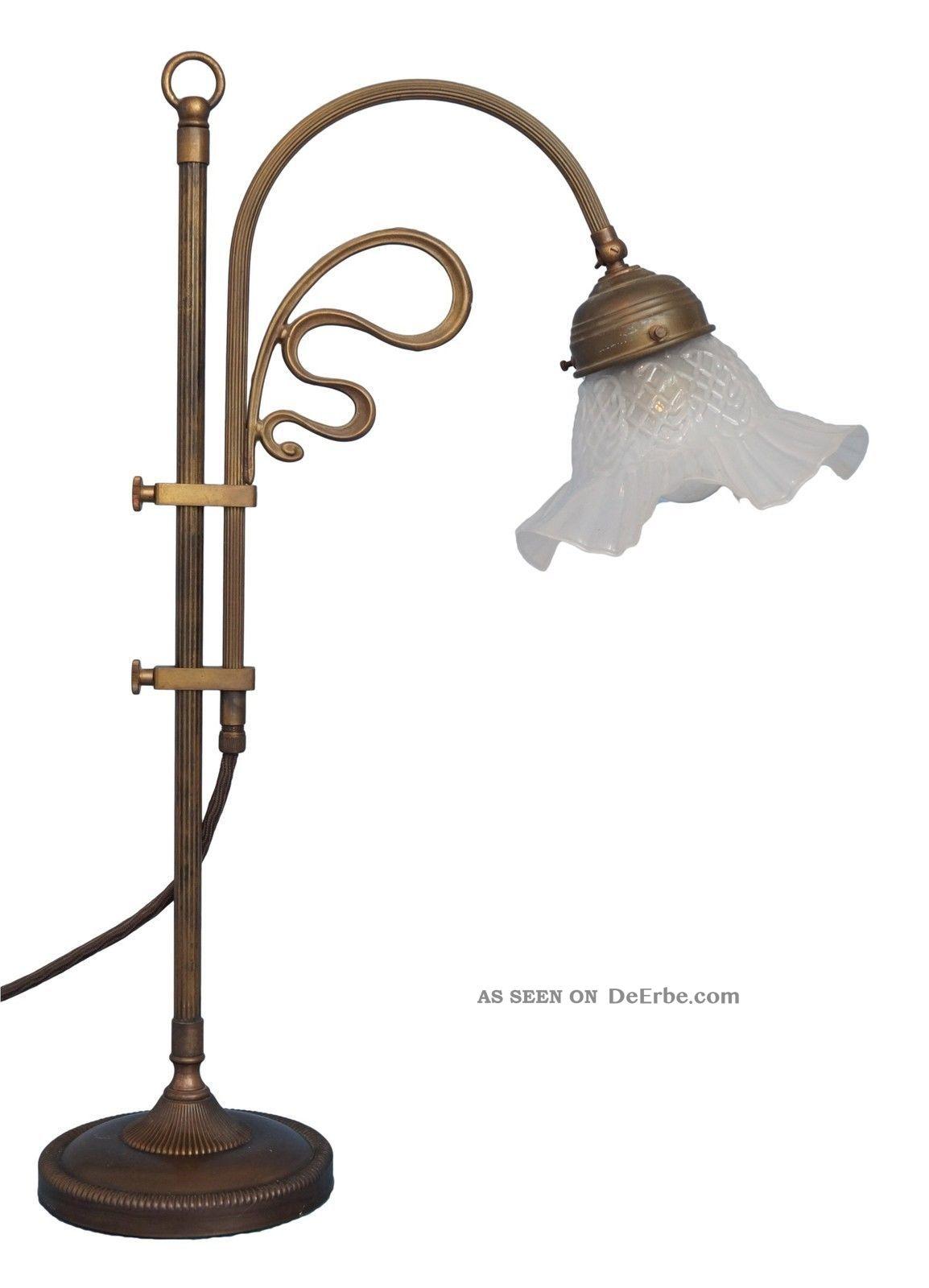 Klassische Jugendstil Leselampe Tischleuchte Bibliothekenlampe Kontorleuchte Gefertigt nach 1945 Bild