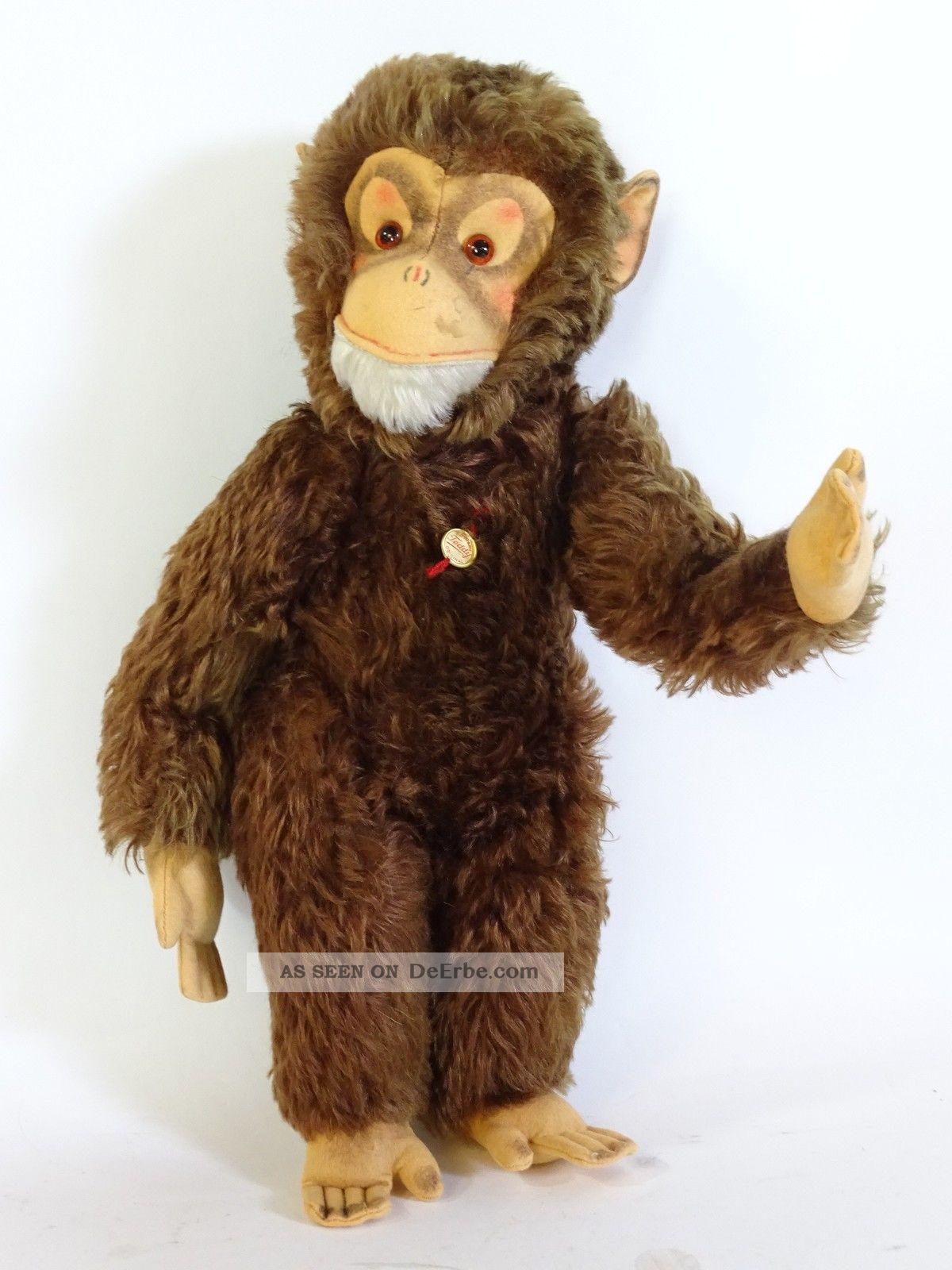 Alter Hermann Teddy Seltener Riesiger Affe Fest Gestopft Stofftiere & Teddybären Bild