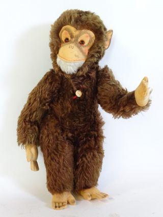 Alter Hermann Teddy Seltener Riesiger Affe Fest Gestopft Bild