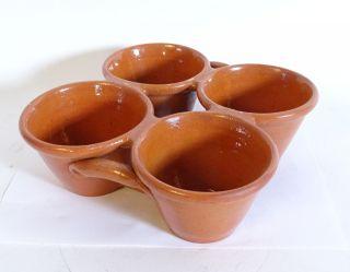 ältere 4er Pfitzauf Form Muffin Form 4er Block Keramik Größe 23 X 23 Cm Bild