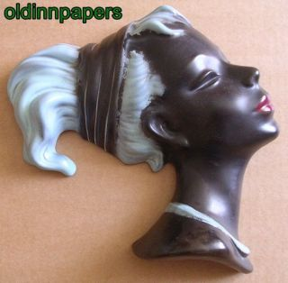 Alte Cortendorf Keramik Wandmaske Frau Frauenkopf Nr 3440 1a Bild