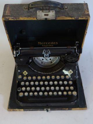 Antike Mercedes Superba Schreibmaschine Im Koffer Bild