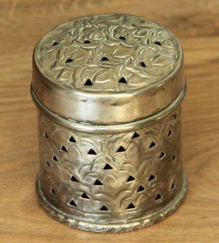Antike Deckeldose - Dose Versilbert Handarbeit Jugendstil? - 9 Cm - Anschauen Bild
